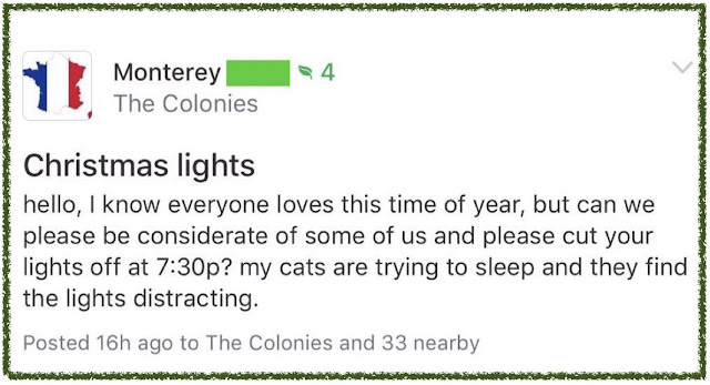 Please turn off Christmas Light for my cats. Post marchmatron.com