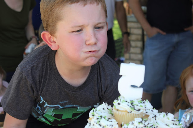 Minecraft Party; Boy Birthday Party; Fifth Birthday