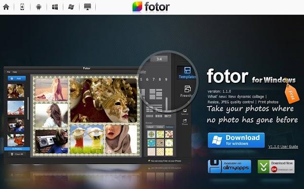 برنامج Fotor الرائع لتحرير وتجميع وإضافة المؤثرات على الصورللويندوز ، الماك ، الأندرويد ، الآيفون
