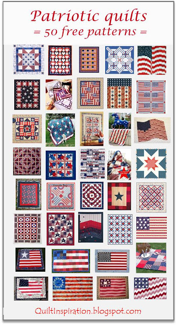 Quilt Inspiration: Free pattern day: Patriotic and flag quilts : free patriotic quilt block patterns - Adamdwight.com