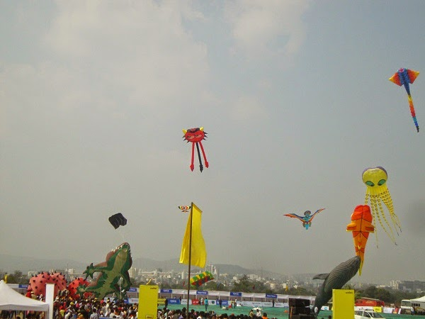 International Super Kite Festival - Moshi, Pune.