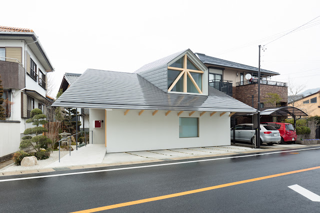 Exterior of house with Dormer Window, Japan