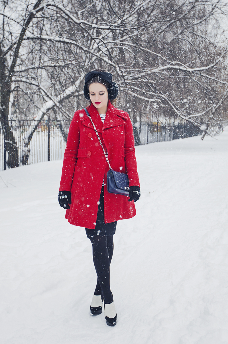 ASOS red coat