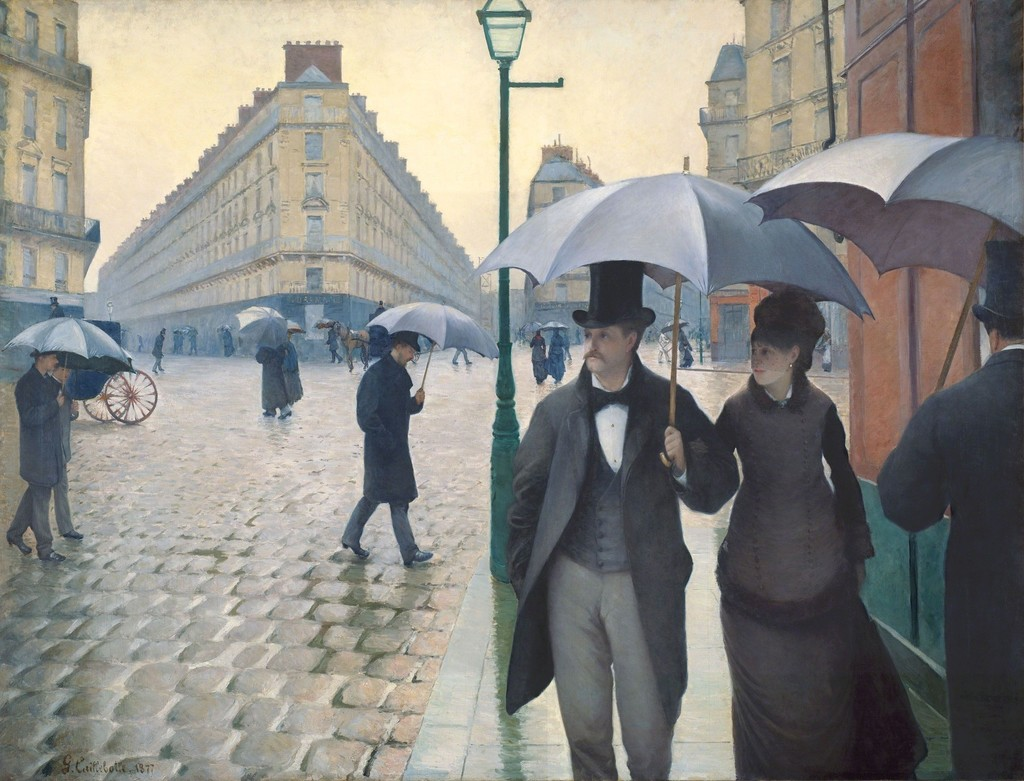 Paris Street; Rainy Day, 1876-1877