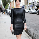 GEMMA ARTERTON IS HEART STOPPING IN A BLACK LEATHER DRESS AT THE BYZANTIUM SCREENING