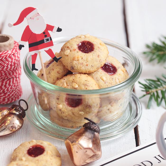 Weihnachtsplätzchen mit Marmelade: Husarenkrapferl und Himbeer-Pistazien-Schnecken