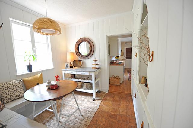 Frühstücksecke optimal eingerichtet - Design im Esszimmer neben der Küche