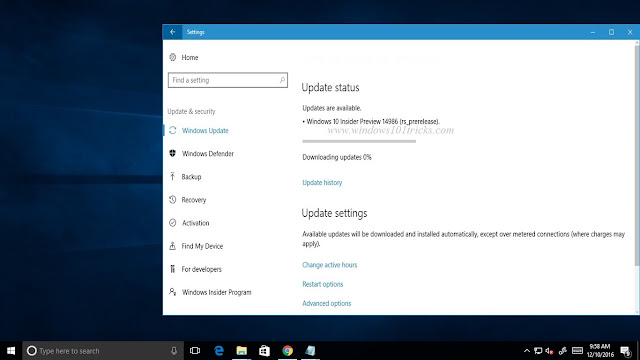Windows 10 creators update Insider Preview Build 14986 New Features