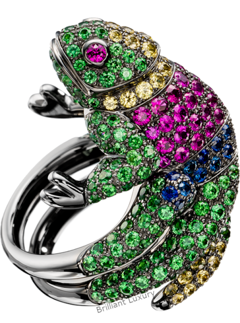 Brilliant Luxury♦Boucheron Paris Masy Cameleon ring