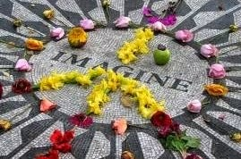 John Lennon's Memorial Strawberry Fields by Central Park Pedicab Tours