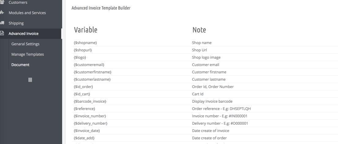 Prestashop Module Prestashop Pdf Invoice Template Module - Invoice module