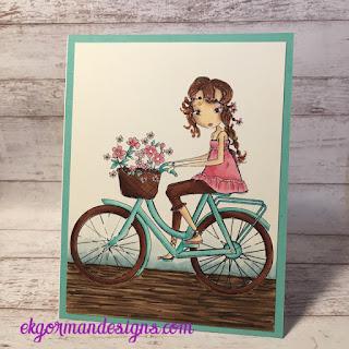 EK All Dressed Up Girl On A bike
