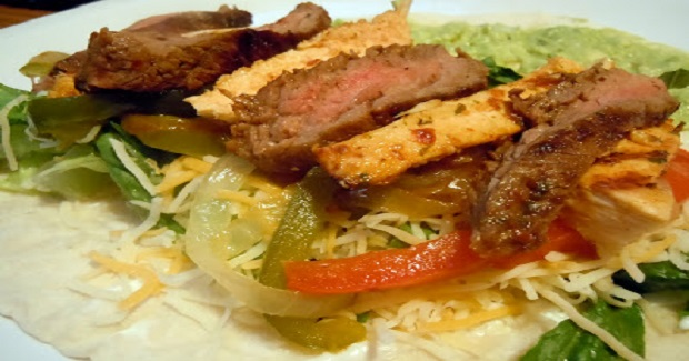 Chicken And Steak Fajitas Recipe