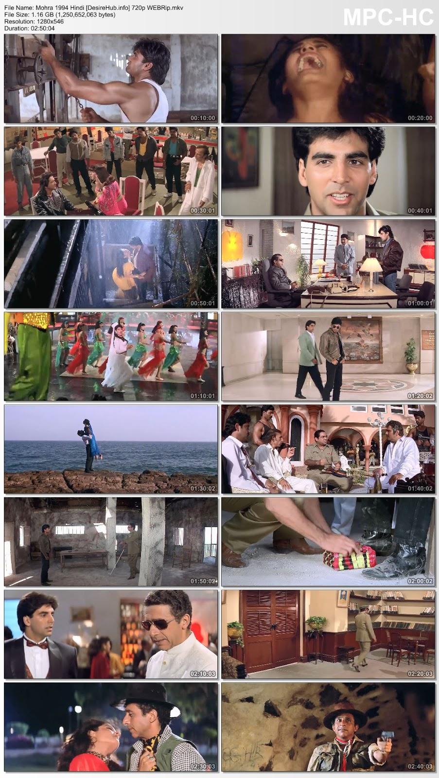 Mohra 1994 Hindi 720p WEBRip 1.1GB Desirehub