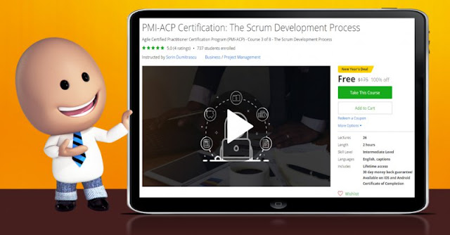 [100% Off] PMI-ACP Certification: The Scrum Development Process|Worth 195$