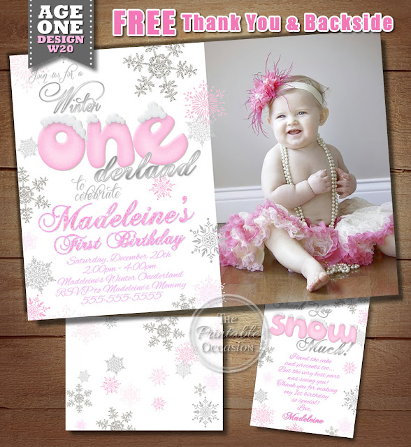 girls winter onederland invitation winter onederland birthday invitation first birthday 1st birthday snowflakes pink and silver snowflake birthday - Winter Onederland Party Invitations