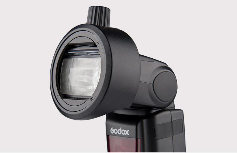 Модификатор Godox S-R1 на вспышке