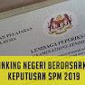 Ranking Negeri Terbaik SPM 2019