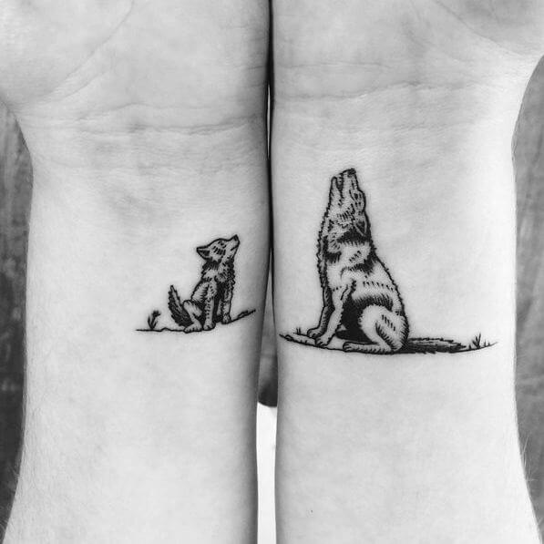 130 Best Wolf Tattoos For Men 2019 Howling Lone border=