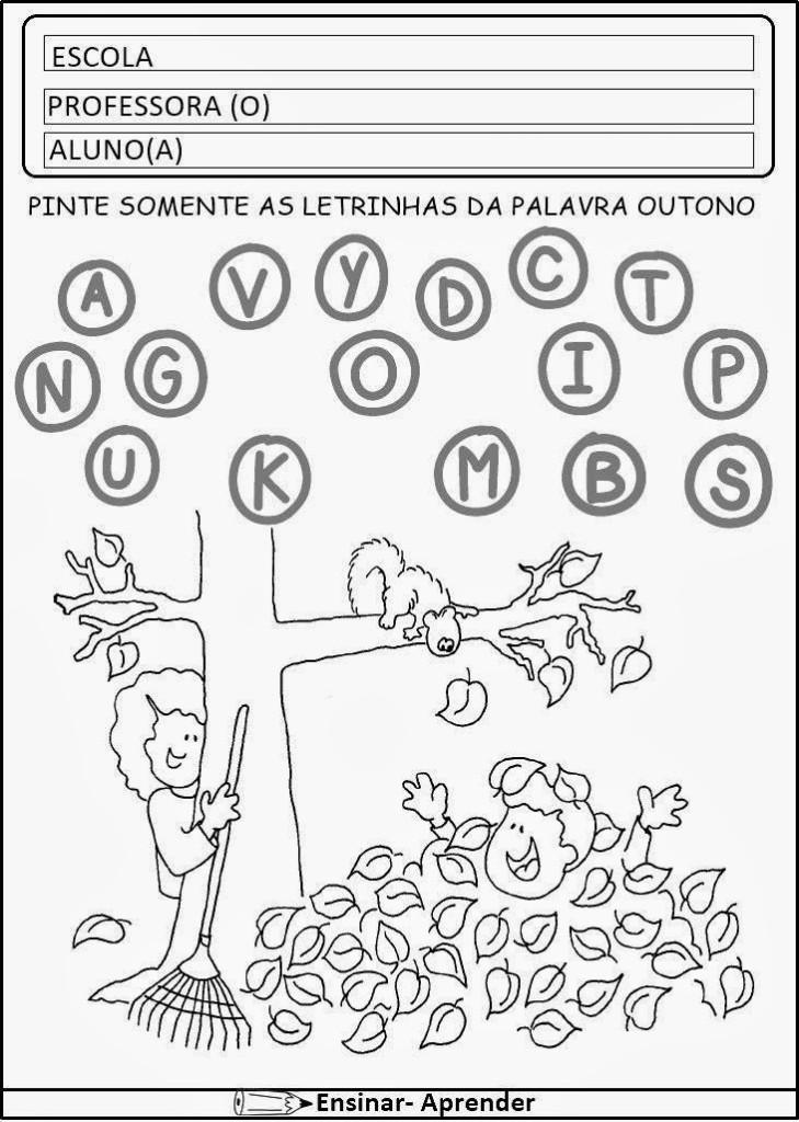 Atividades Para Imprimir Outono Educacao Infantil E Fundamental