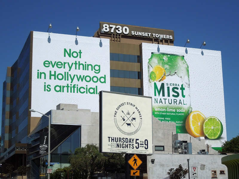 Sierra Mist Not everything Hollywood artificial billboards