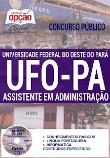 apostila UFOPA concurso Oeste do Pará 2016.