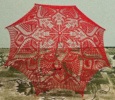 sombrinha/guarda-chuva de crochê com gráfico