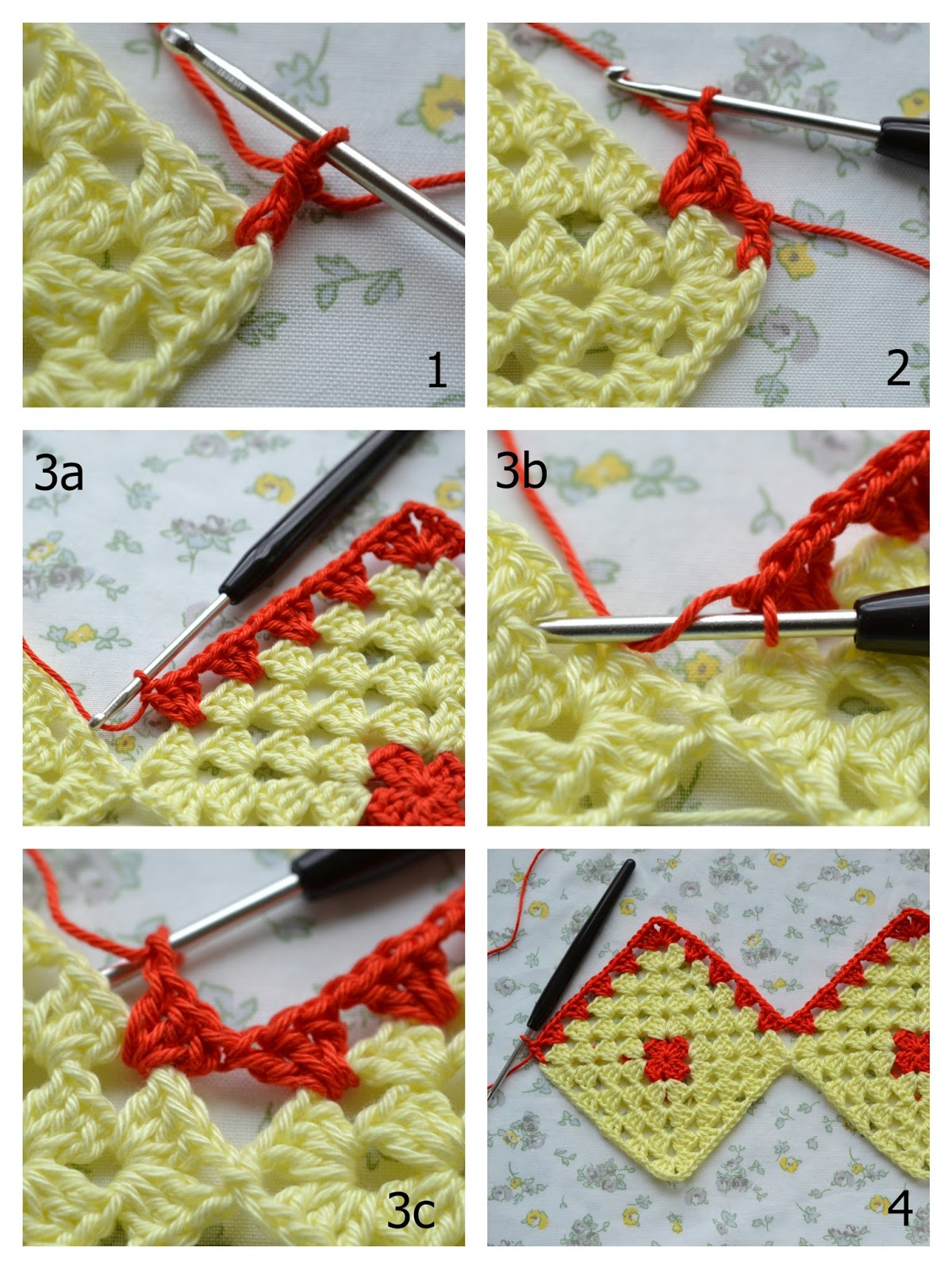 Atelier Marie-Lucienne: How-to Granny Square Curtain / Anleitung ...