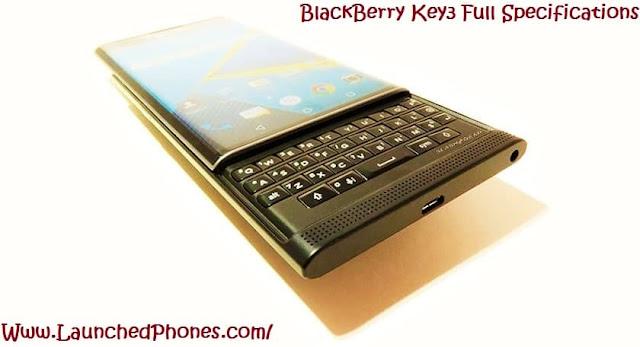 BlackBerry Key3 full specifications