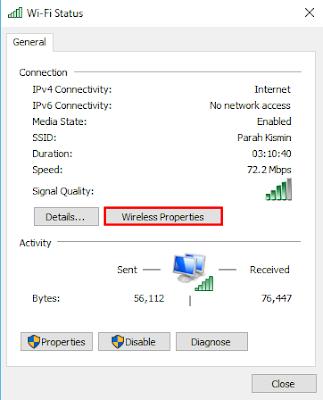 Cara Mengetahui Password WIFI Melalui Control Panel