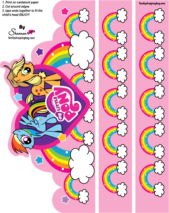 image regarding Printable Crown referred to as My Small Pony Free of charge Printable Crown. - Oh My Fiesta! for Geeks