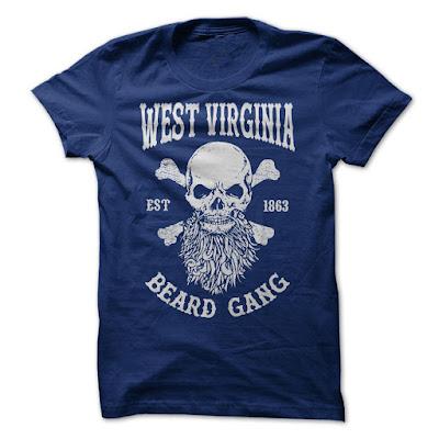 WEST VIRGINIA BEARD GANG, VIRGINIA BEARD GANG, WEST VIRGINIA BEARD GANG T SHIRT,
