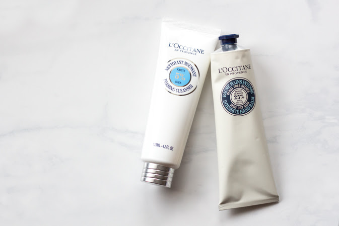 L'Occitane Shea Butter Foaming Cleanser and Intense Hand Balm Review