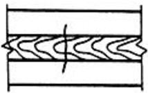 Трещина сварного соединения, ориентированная поперек оси сварного шва