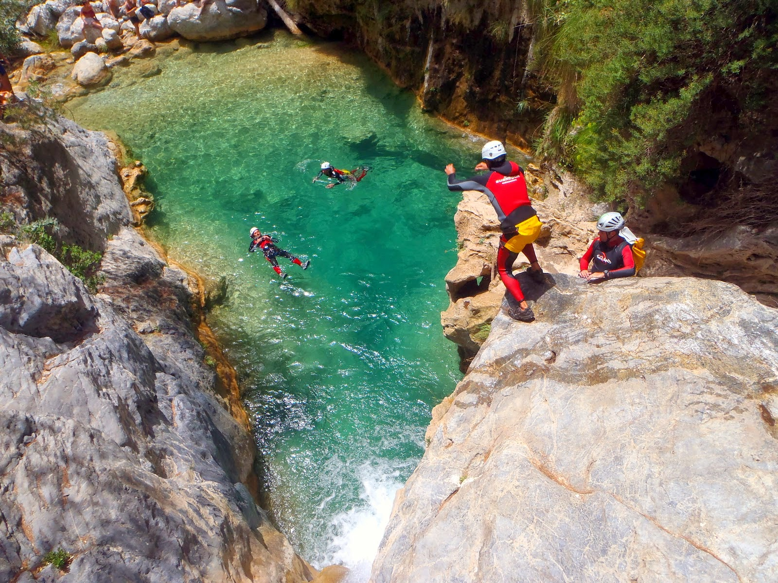 Deporte de aventura en las Pozas del Río Verde, Granada