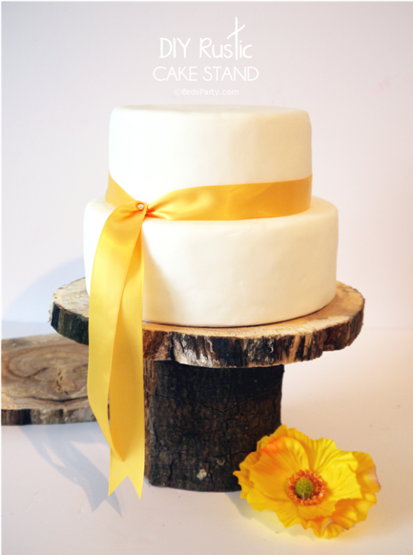 DIY Rustic Log Tree Stump Pedestal Cake Stand