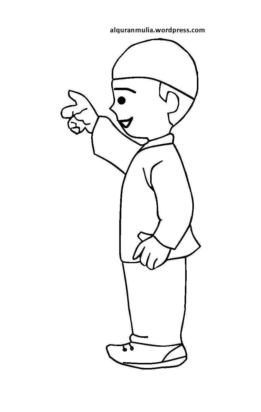 Download 31 Gambar mewarnai anak muslim - Desain Hidupmu