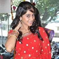 hot and gorgeous Regina cassandra latest cute stills in red designer saree