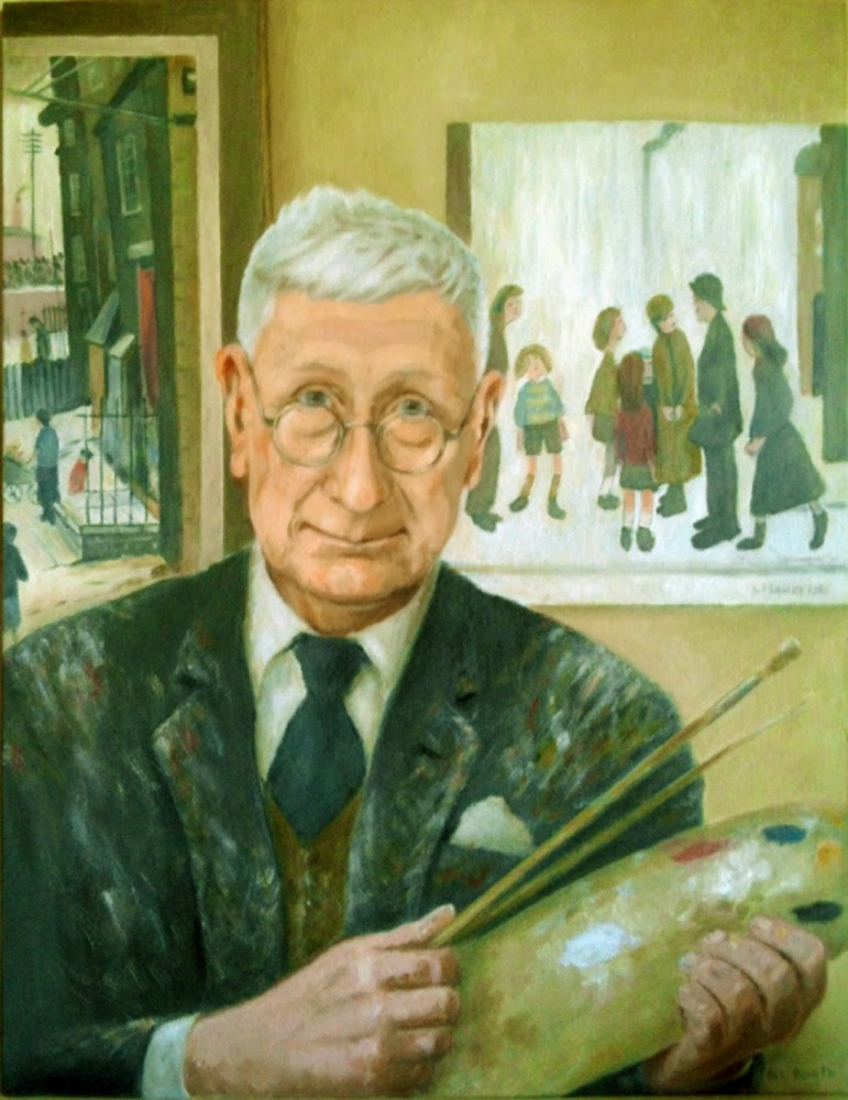 Laurence Stephen Lowry, Self Portrait, Portraits of Painters, Laurence Stephen,  Fine arts, Painter Laurence Stephen Lowr