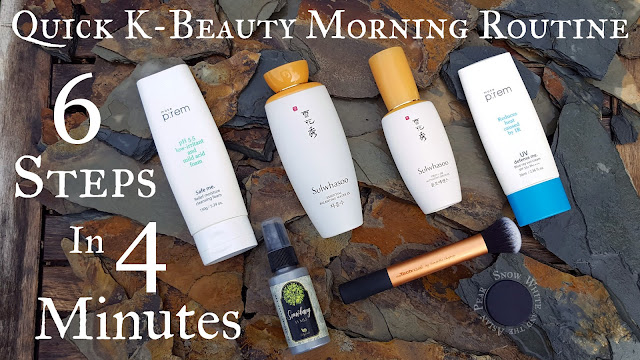 Fast K-Beauty morning routine