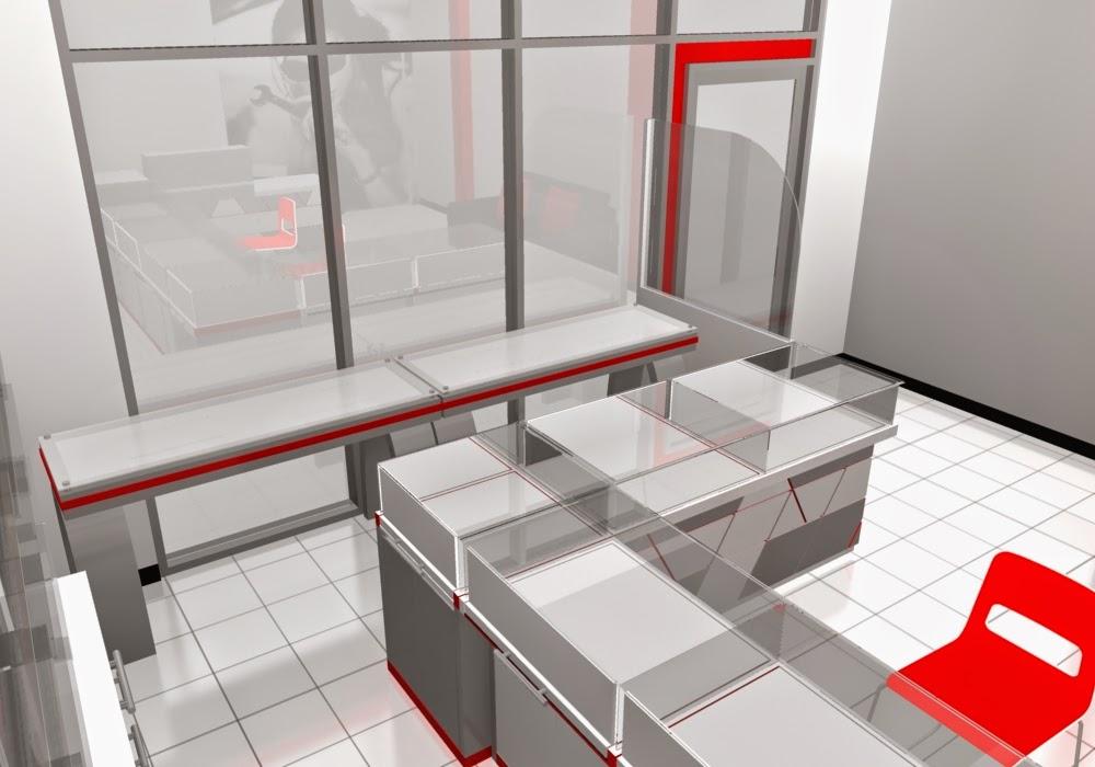 desain 3d Etalase Kacamata dan Interior Untuk Optik - Semarang 03