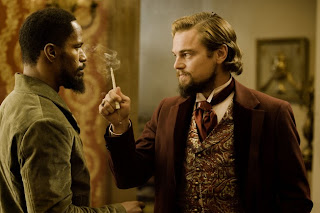 Jamie Fox Leonardo DiCaprio Django Unchained 2012