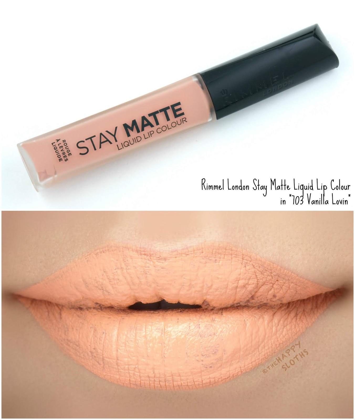"Rimmel London | Stay Matte Liquid Lip Colour in ""703 Vanilla Lovin"": Review and Swatches"