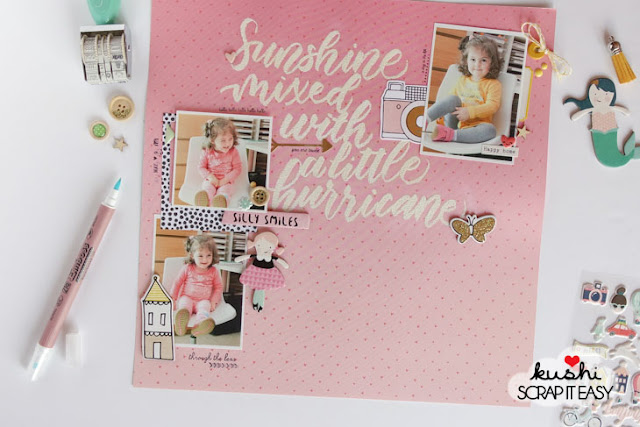 "scrapbook layout ""hurricane"" by kushi per ScrapItEasy 