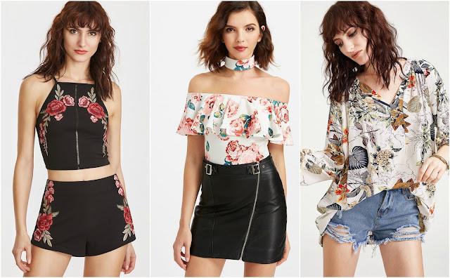 bluzki z kwiatami