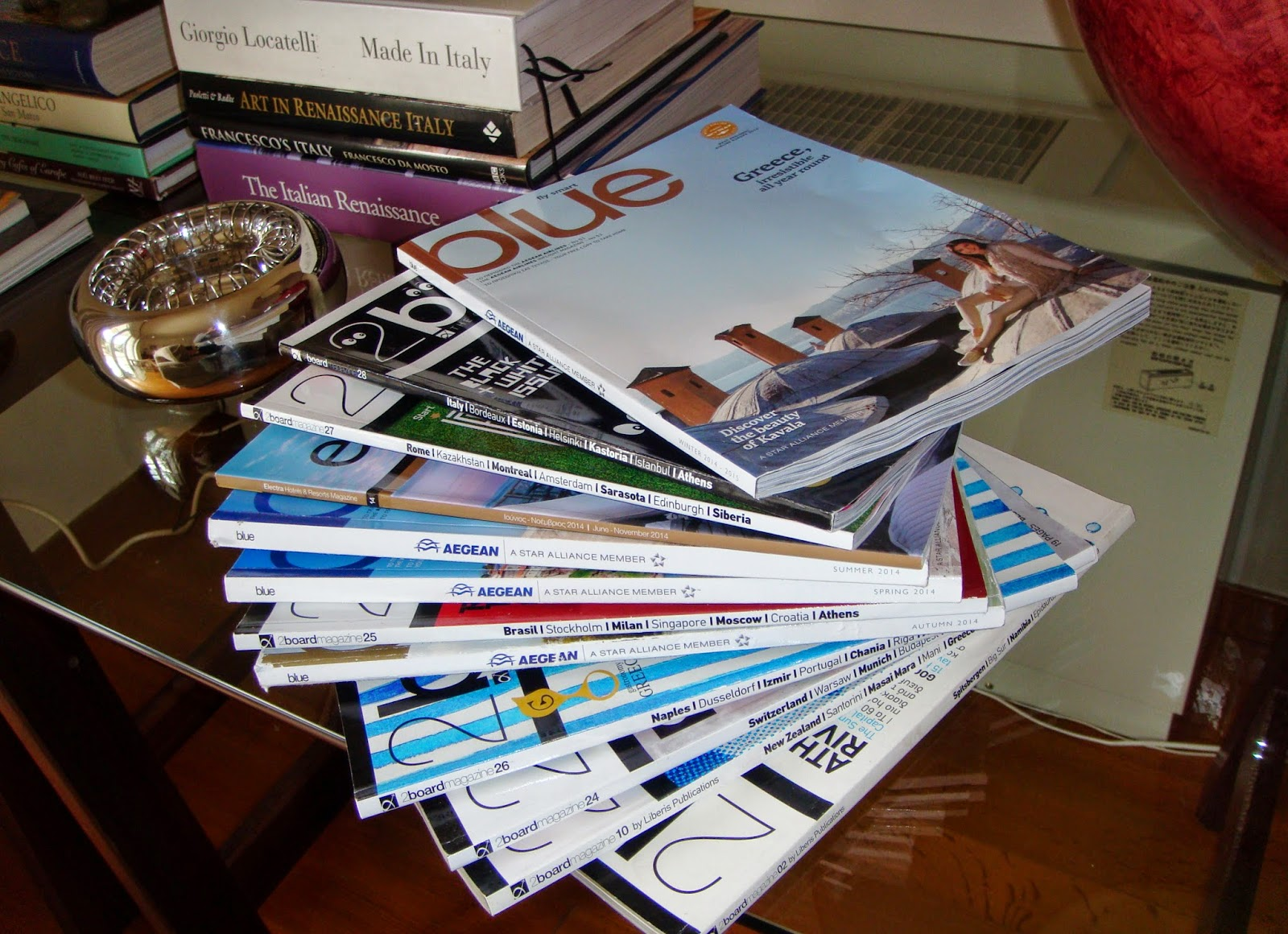 AthensAirport and Aegean Arline magazines