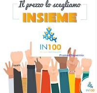 Logo IN100 il primo portale per acquisto collettivo! Entra anche tu: Più siamo Meno paghiamo