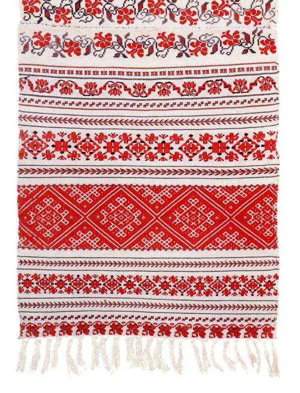 Ritual towel from Belarus decorated with intricate embroidery