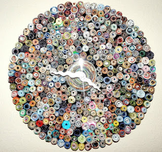 recycled paper clocks circles
