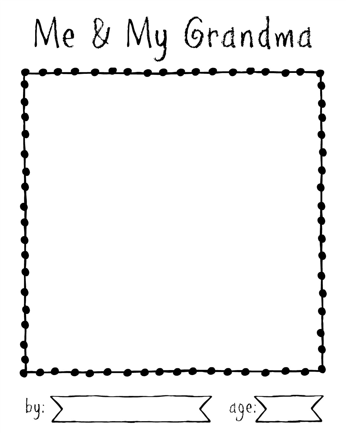 Cut Craft Create Printable Questionnaire Amp Coloring Page About Grandma